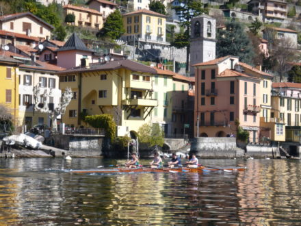 Junior rowers on Lake Como