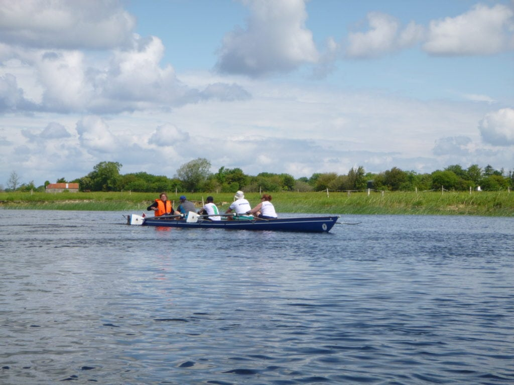 Somewhat unusual, a coxed four on the FISA World Rowing Tour 2013