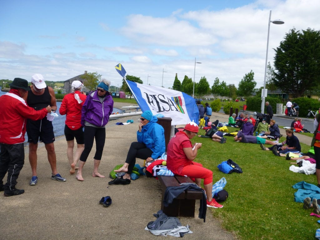 Lunch break on Lough Derg during the FISA World Rowing Tour, Ireland 2013.