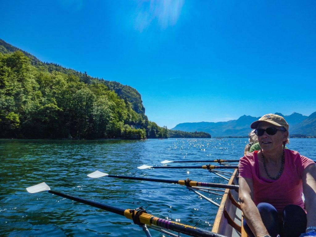 Austrian lake rowing tour