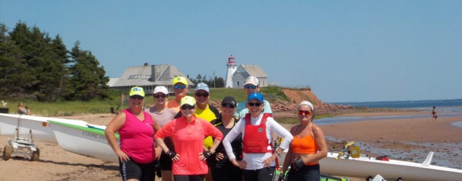 Canada rowing tour PEI rowing